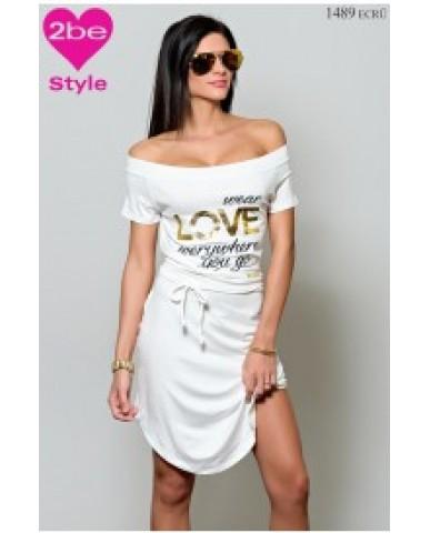 BEBE ecrü Love ruha