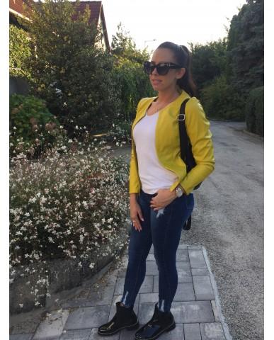 Amandine műbőr dzseki - (S)