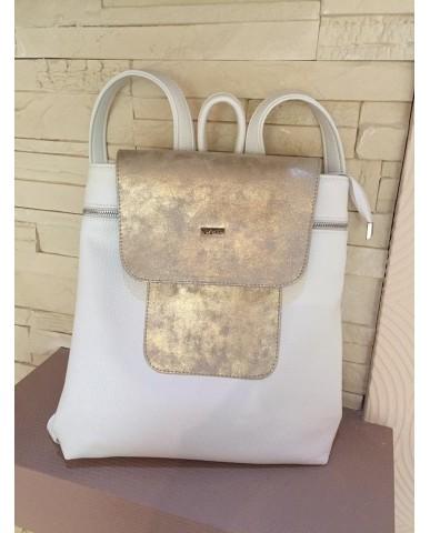 VIA55 táska fehér/ arany