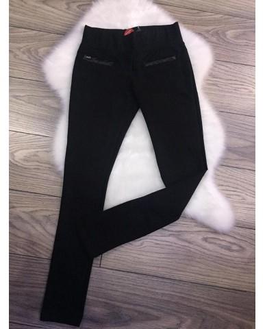 Pamut nadrág - műbőr zseb részekkel