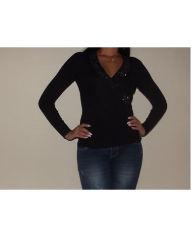 2in1 Kardigánná alakítható pulóver - fekete