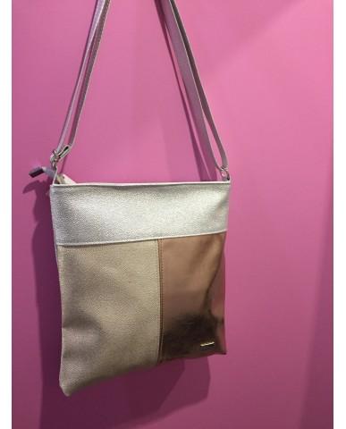 VIA55 ezüst/arany/rose gold táska