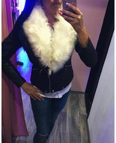 Bélelt szőrmés kabát