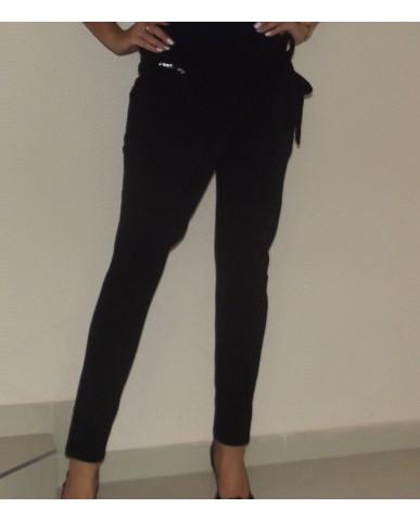Átlapolt nadrág (fekete)