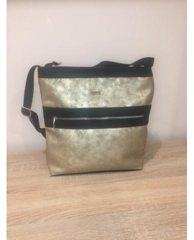 VIA55 arany / fekete táska
