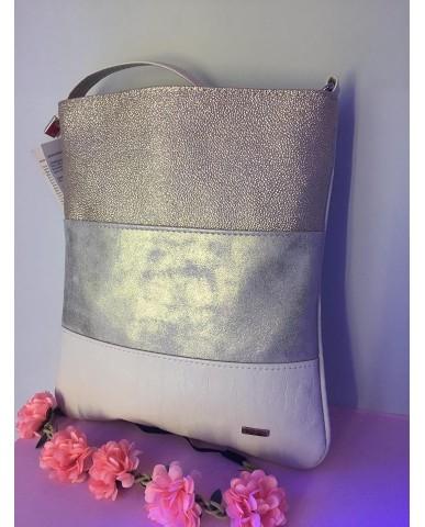 VIA55 arany/ bézs táska