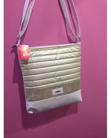 VIA55 arany/ fehér táska