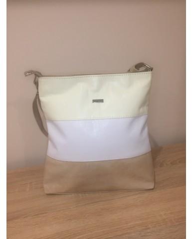 VIA55 bézs/fehér/barna táska