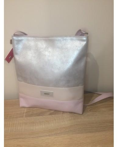 VIA55 ezüst/bézs/halvány rózsaszín