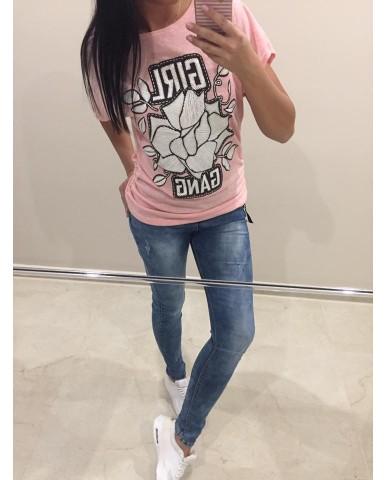 GIRL felső - rózsaszín